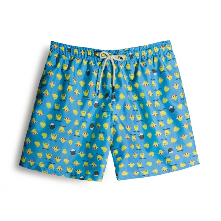 Chicken Turquoise Swim short