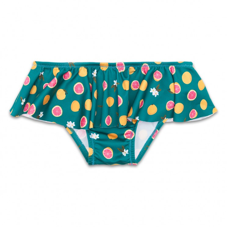 Green Grapefruit Girl Swimsuit 1 Year