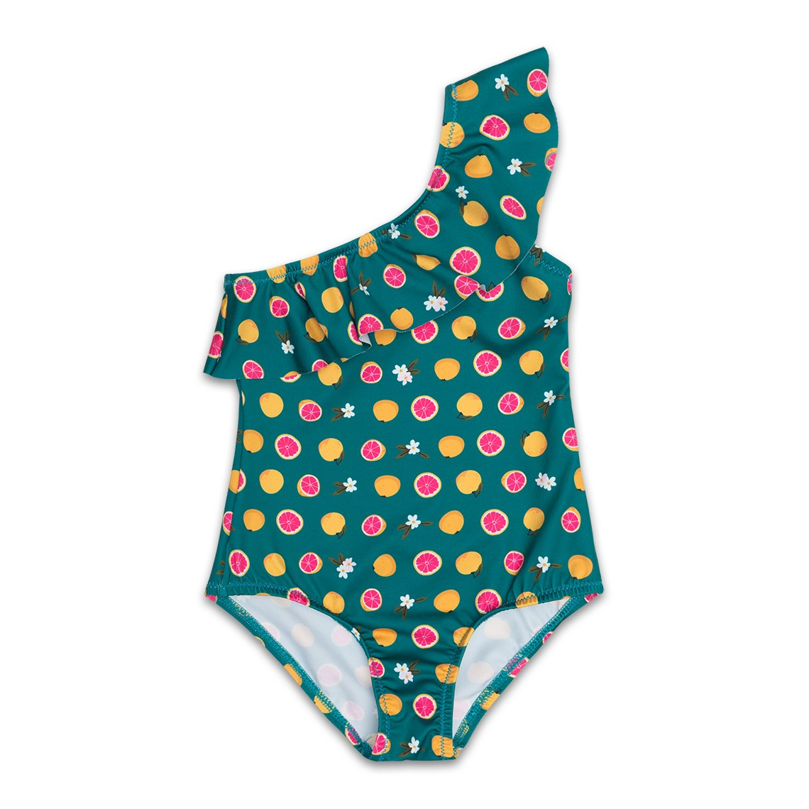 Girl Swimsuit Green Grapefruit 2 to 6 years
