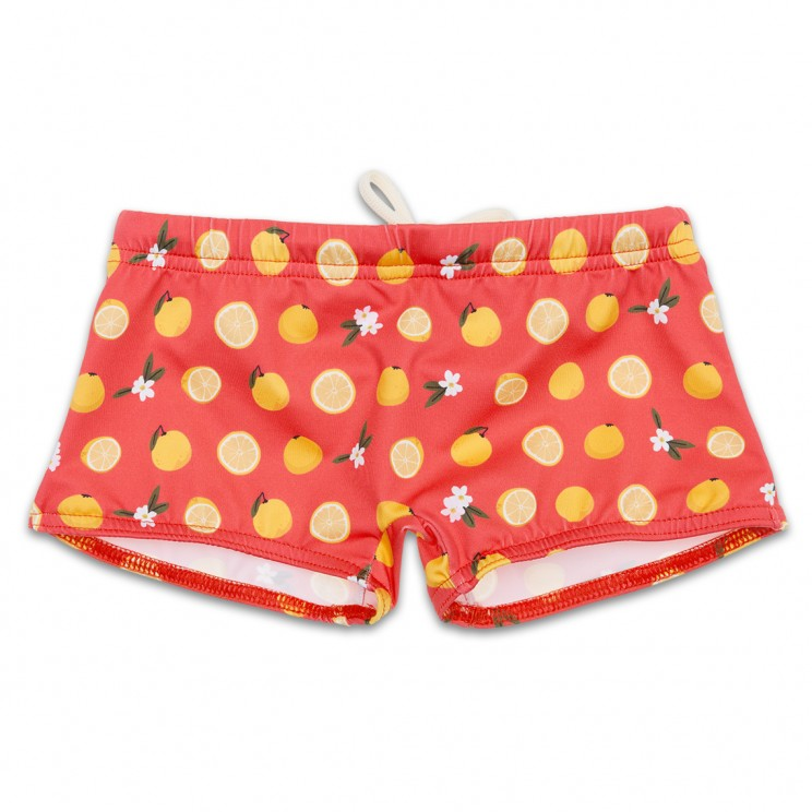 Boy Swimsuit Pink Grapefruit 1 year