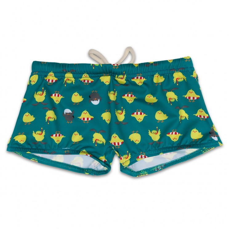Boy Swimsuit Green Chicken 1 year
