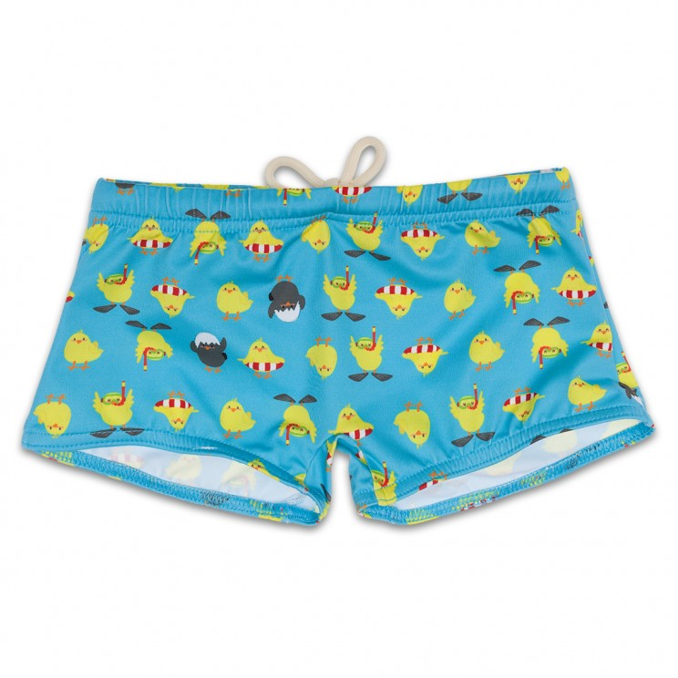 Boy Swimsuit Turquoise Chicken 1 year