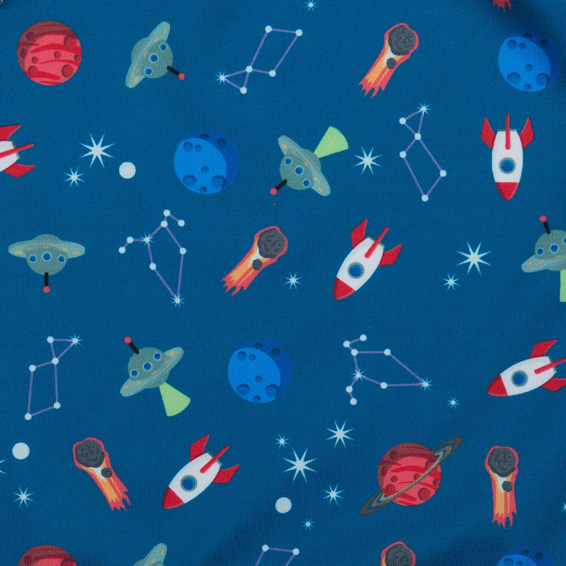 ae40cb6c67 Boy Swimsuit Blue Space Ships 1 year zoom. Siguiente