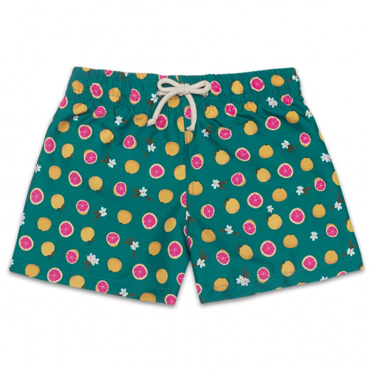 Boy Swim short Green Grapefruit 2 to 6 years