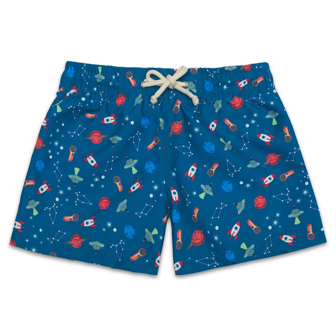 6a57c1b8fd Boy Swim short Blue Space Ships 2 to 8 years - Ocoly