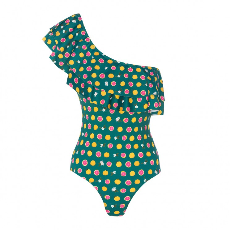 Limited Edition Woman swimsuit Green Grapefruit