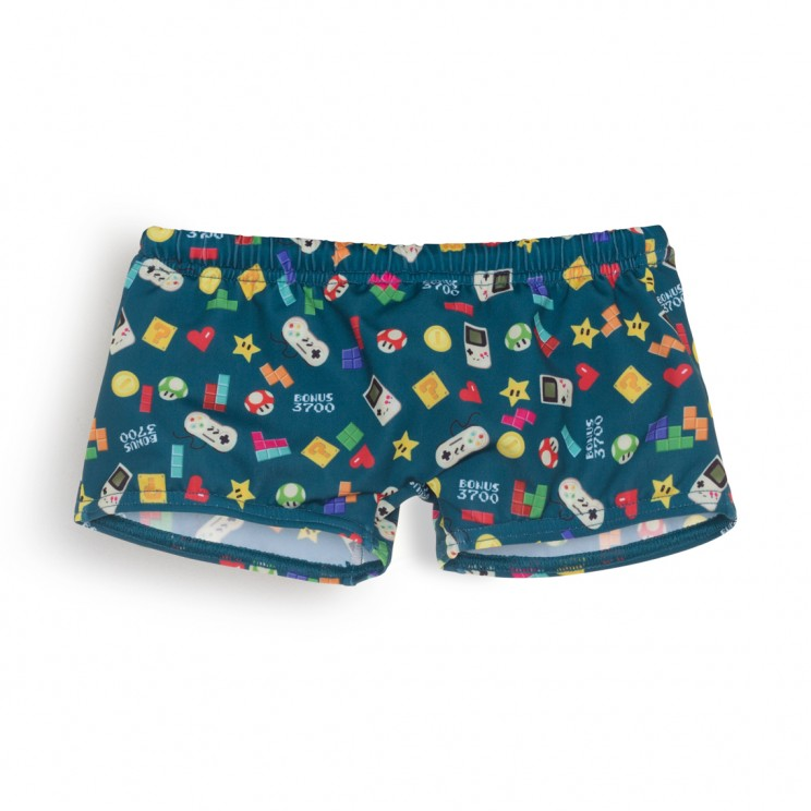 Boy Swimsuit Green video games 1 year