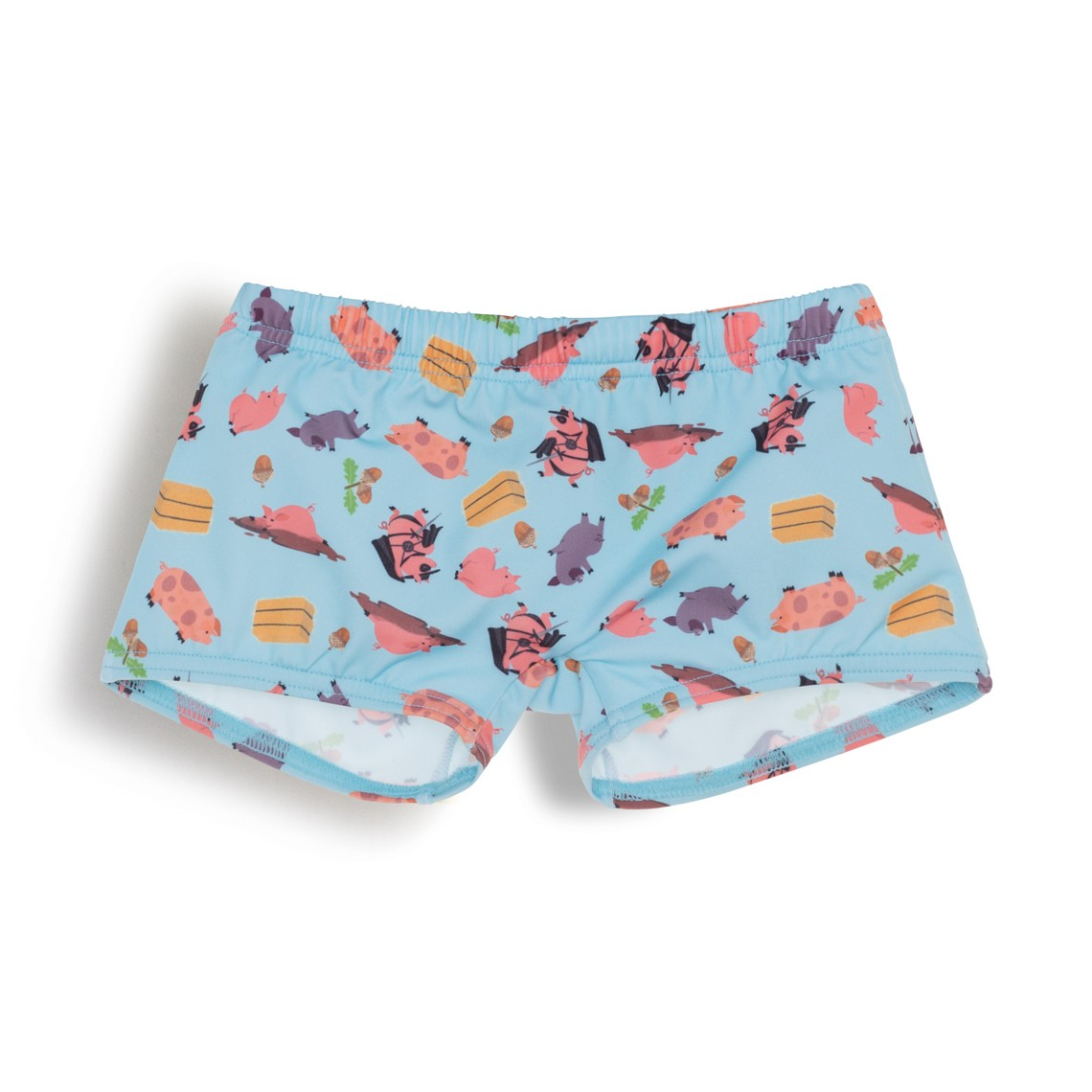 ab468c1df4 Boy Swim Short Light Blue Oink Oink 1 year - Ocoly