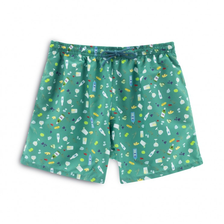 Soft Butt Limited Edition Green Gin and Tonic Swim Short