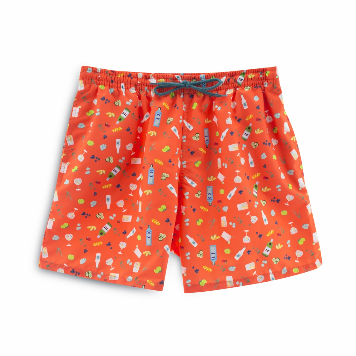Soft Butt Limited Edition Coral Gin and Tonic Swim Short