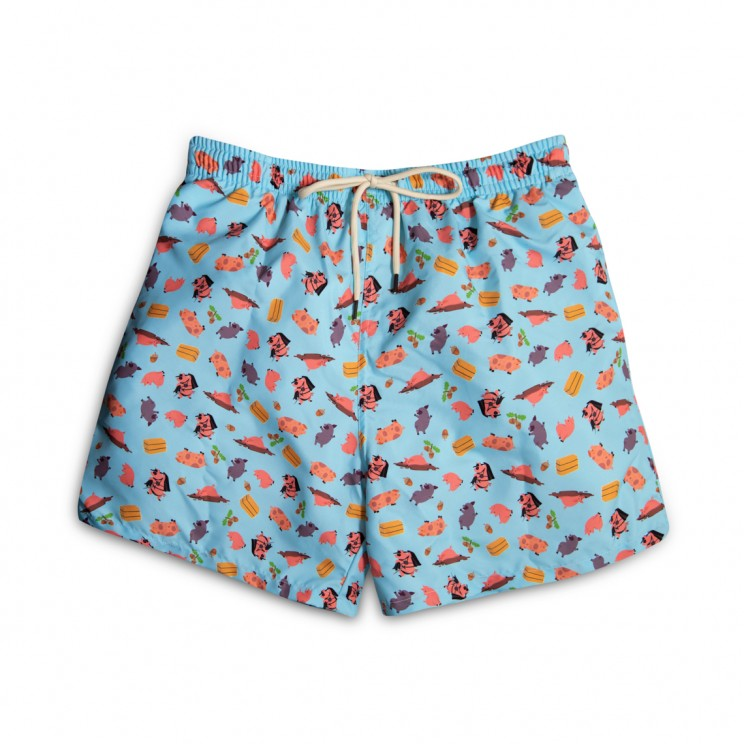 light blue pigs Swim short