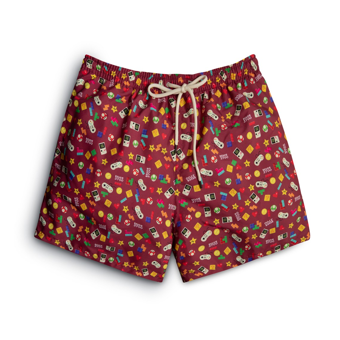 burgundy video games Swim short
