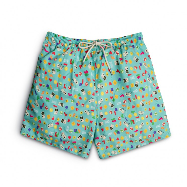 video games Green Swim short