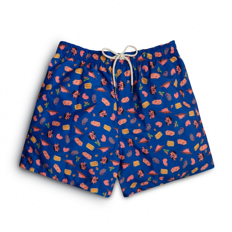 Dark blue pigs Swim short
