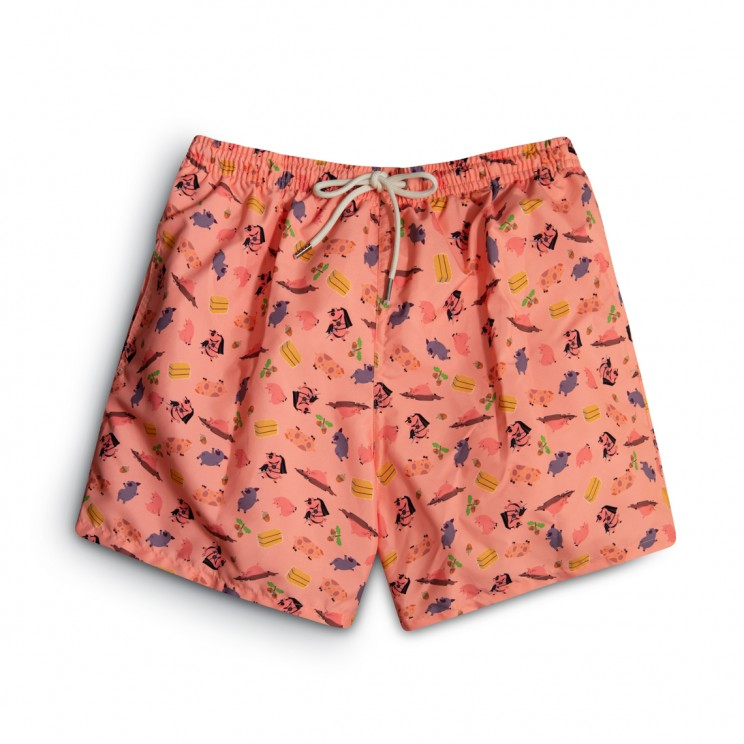 Pink pigs Swim short