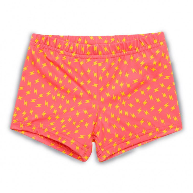 Boy lycra swim short Pink thunder