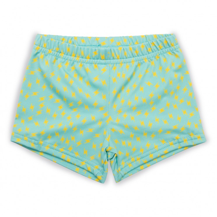 Boy lycra swim short green thunder