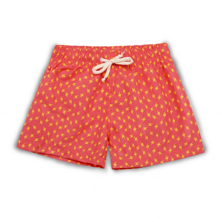 Boy Swim short Pink Strawberry Thunder