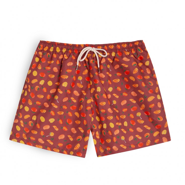 Swim short burgundy mangos