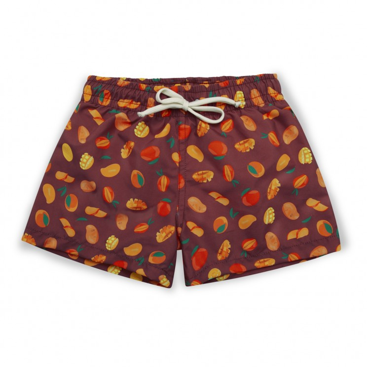 Boy Swim short bourdeos mangos
