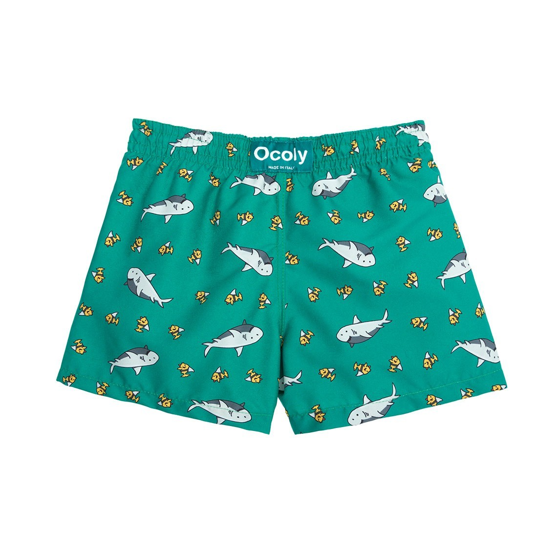 786952df11 Boy Swim short Green Sharks 2 to 4 years - Ocoly