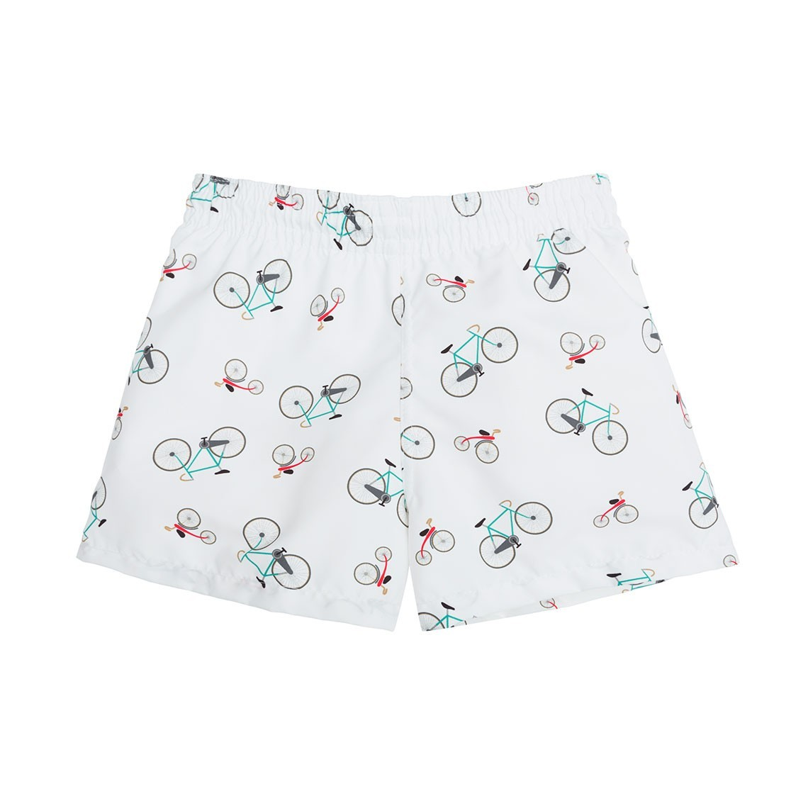 ba1a4bfc11 Boy Swim short White Bikes 2 to 4 years - Ocoly