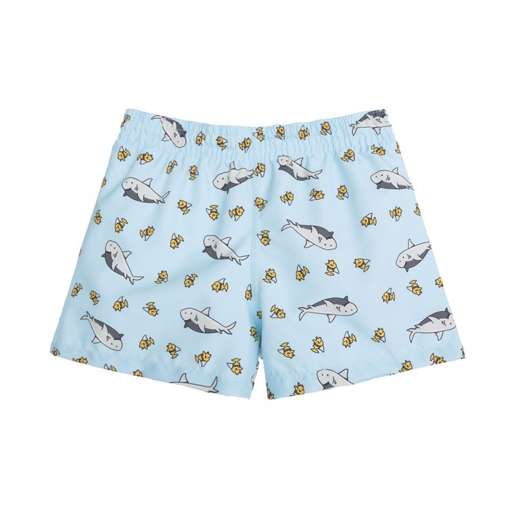 Boy Swim short Light Blue Sharks