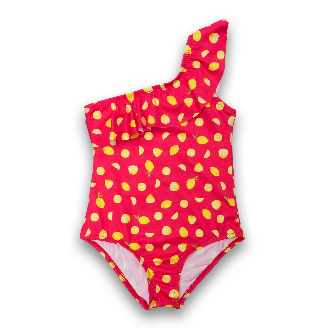 Girl Swimsuit Red Lemons 2 to 6 years