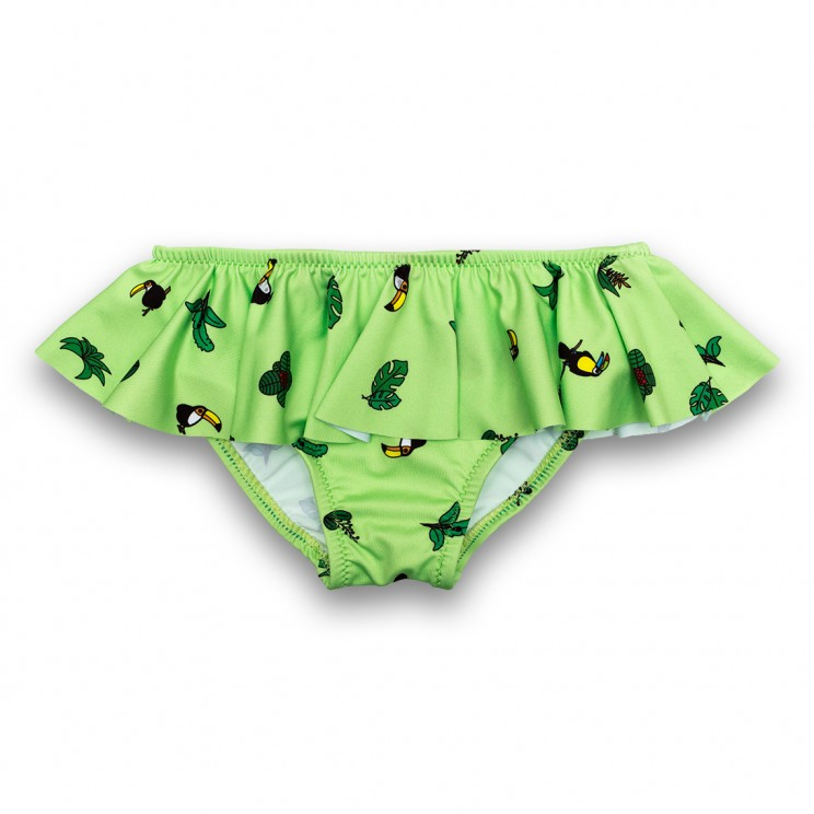 ca8bb395e7 Girl Swimsuit Green Toucans 2 to 6 years