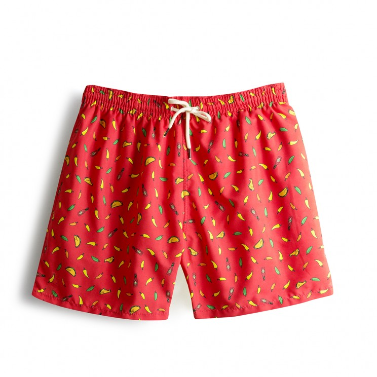 Swim short  Red Tacos
