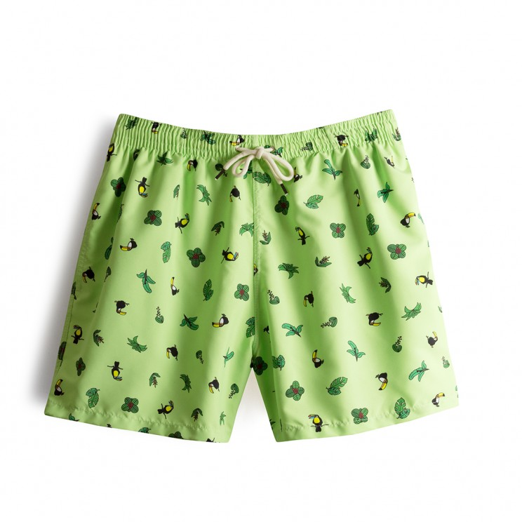 Swim short Green Toucans