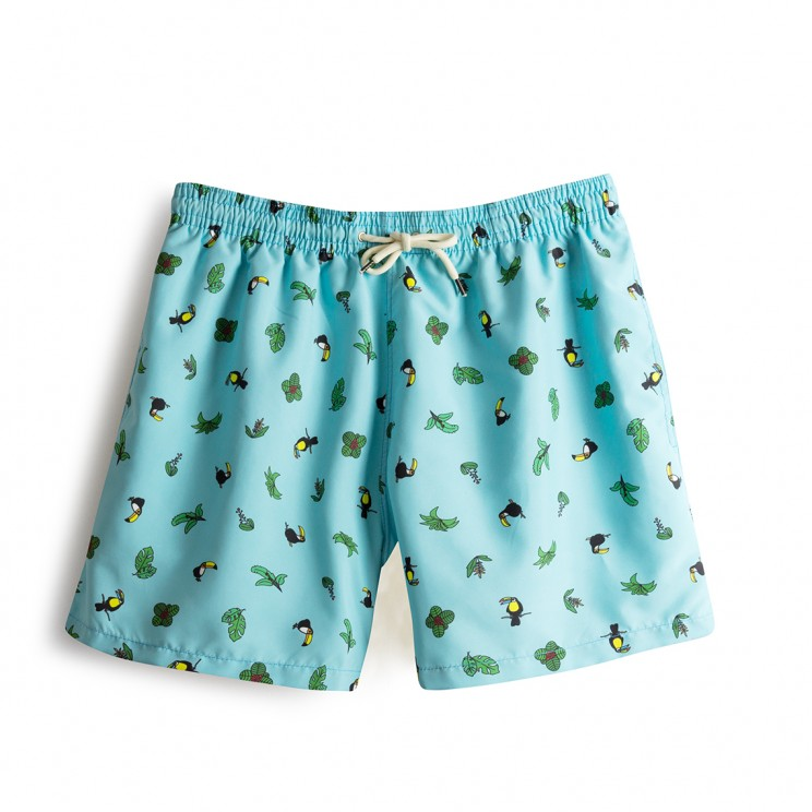 Swim short Blue Toucans