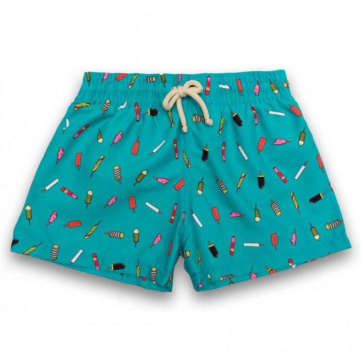 Boy Swim short Green Ice Creams 2 to 6 years