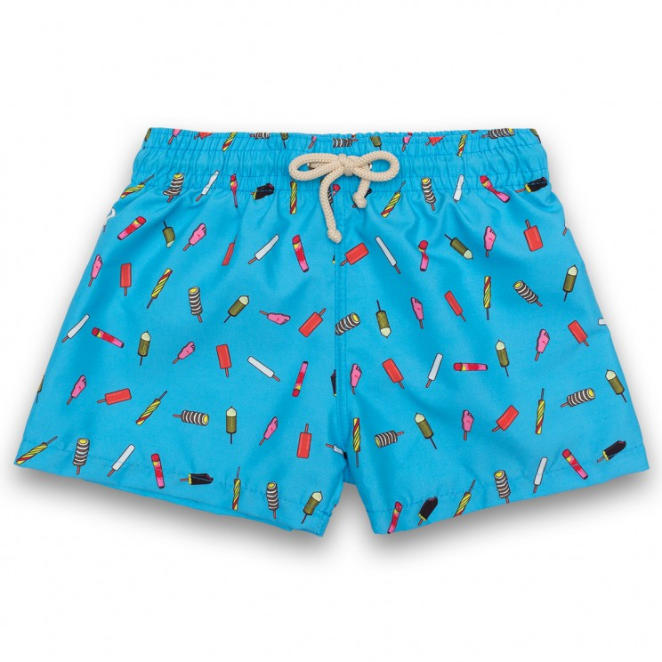 Boy Swim short Blue Ice Creams 2 to 6 years