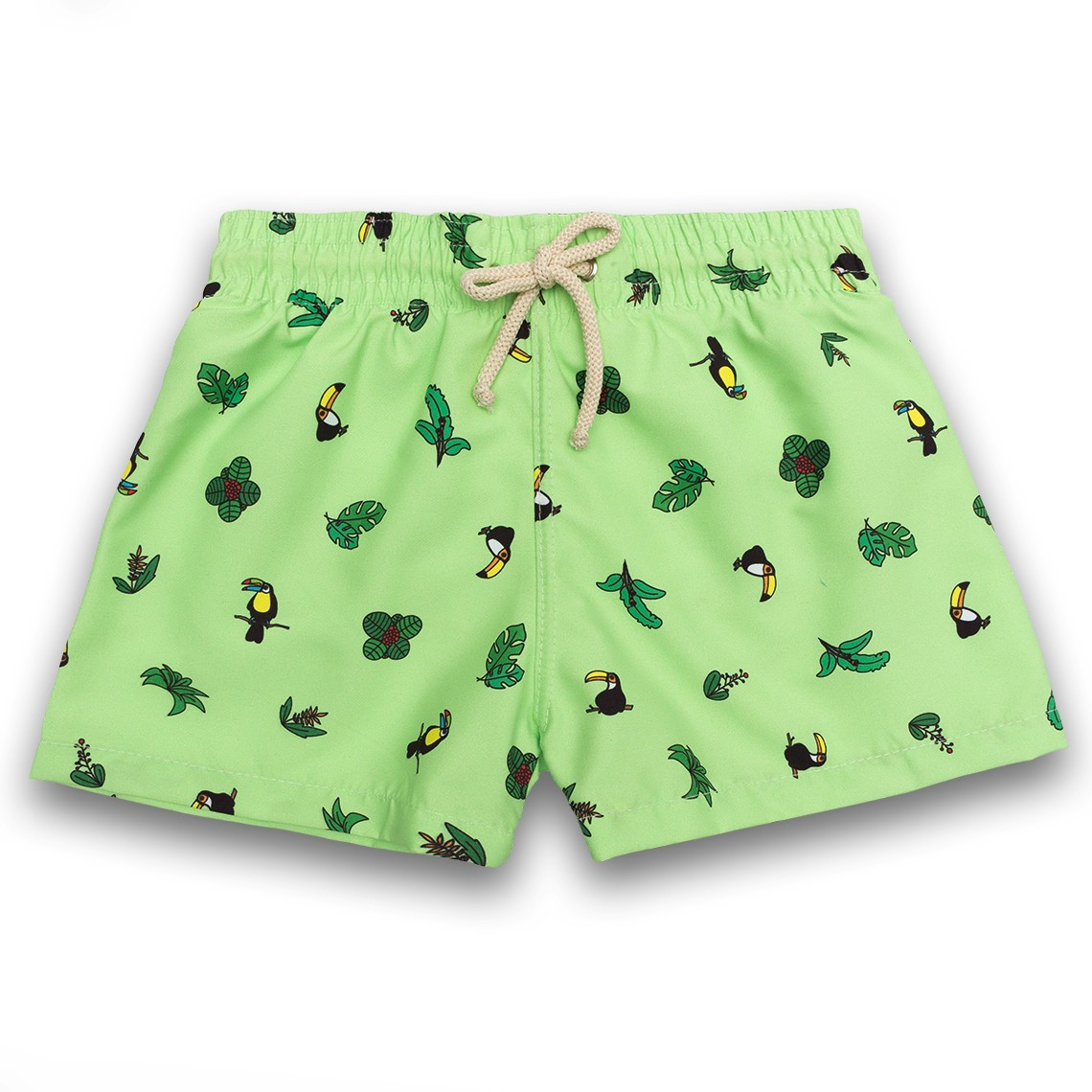 Boy Swim short Green Toucans 2 to 6 years
