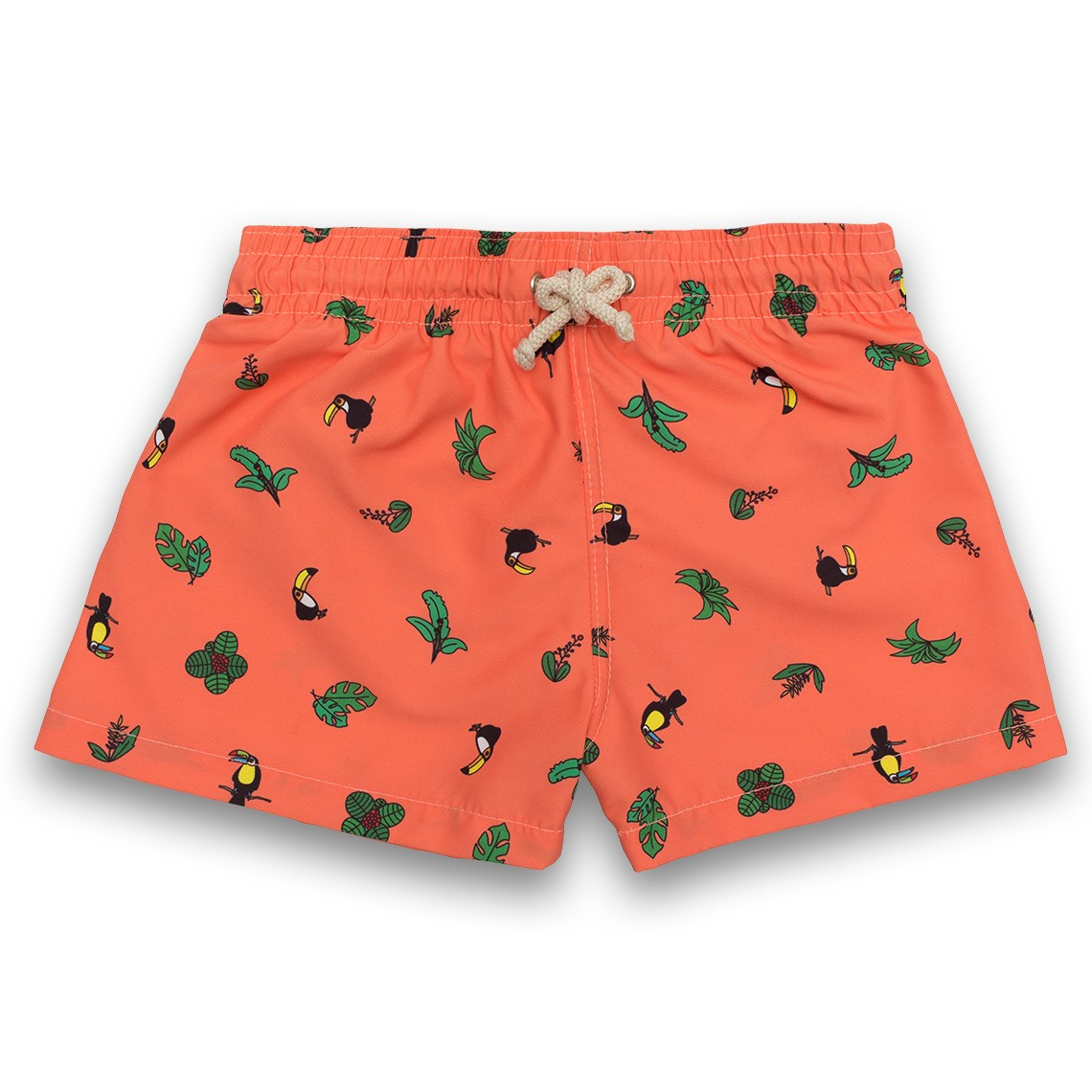 b11302a853 Boy Swim short Coral Toucans 2 to 6 years - Ocoly