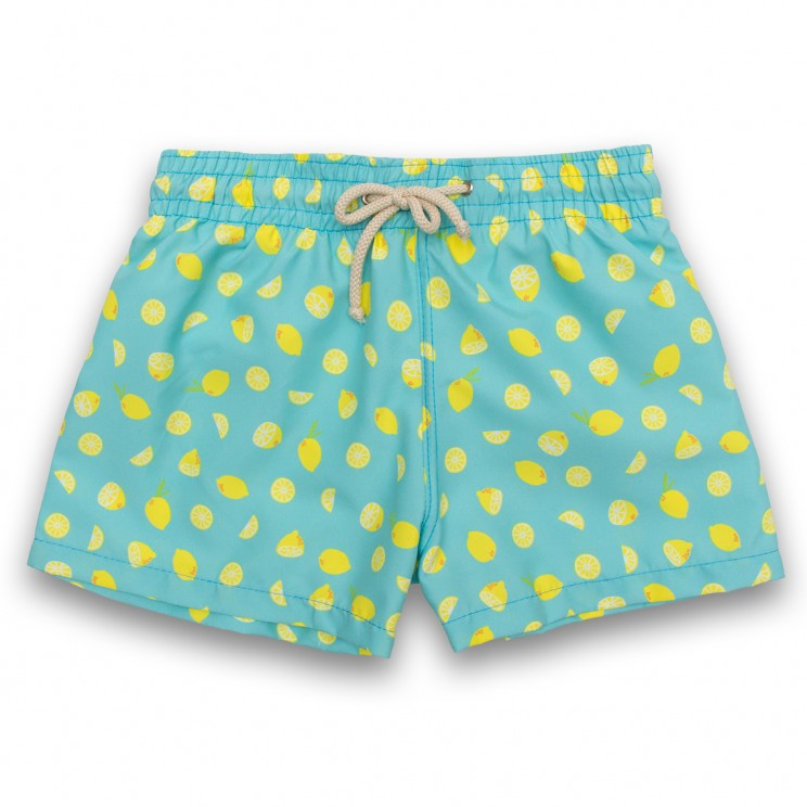 Boy Swim short Red Lemons 2 to 6 years