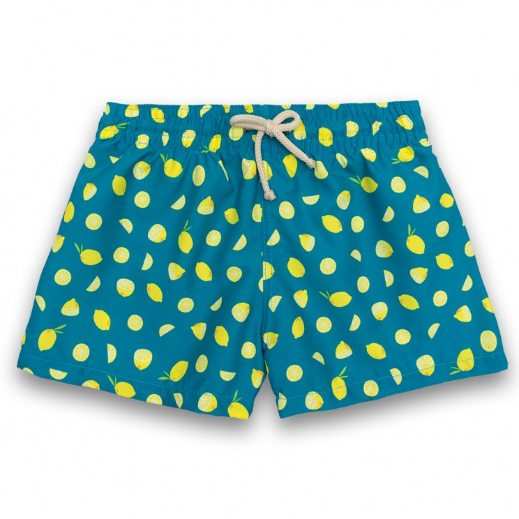 Boy Swim short Green Lemons 2 to 6 years