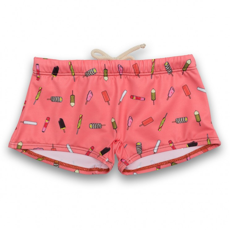 Boy Swimsuit Pink Ice Creams 1 year