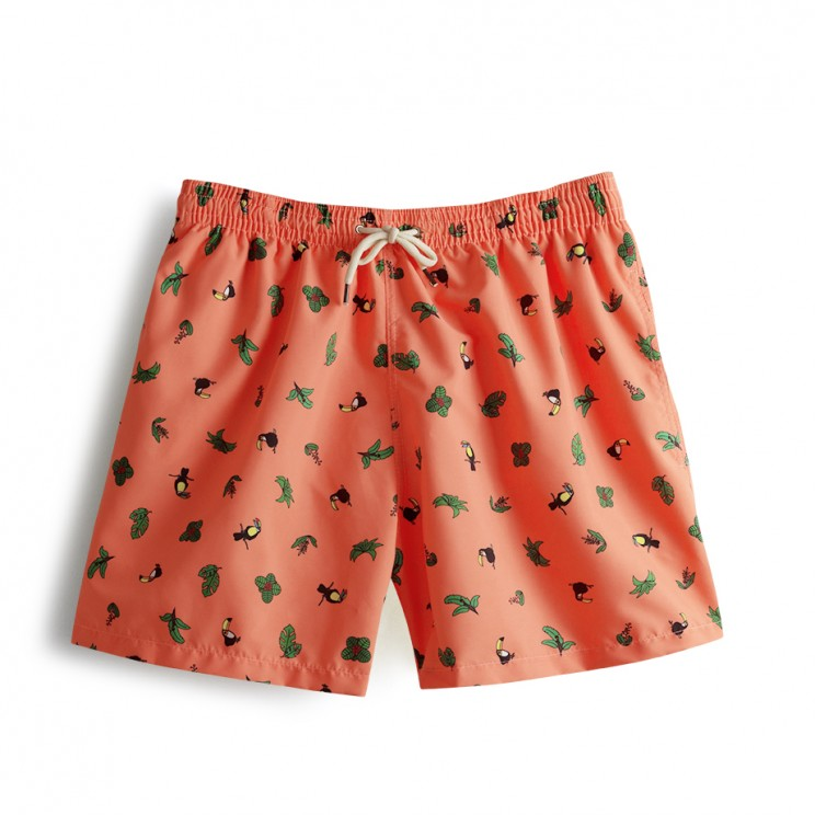Swim short Coral Toucans